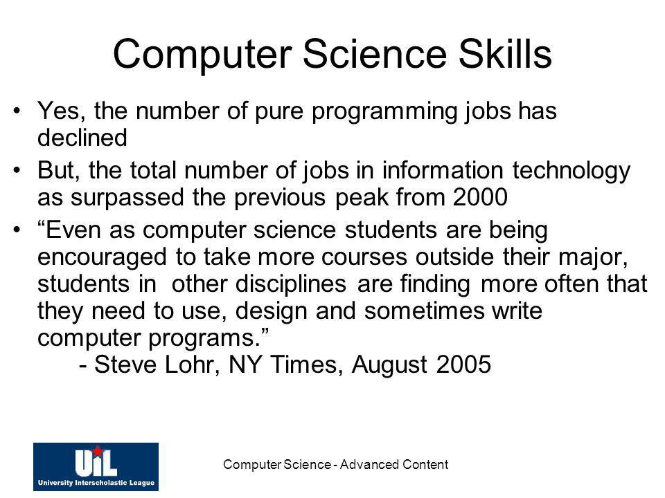 Computer Science Skills