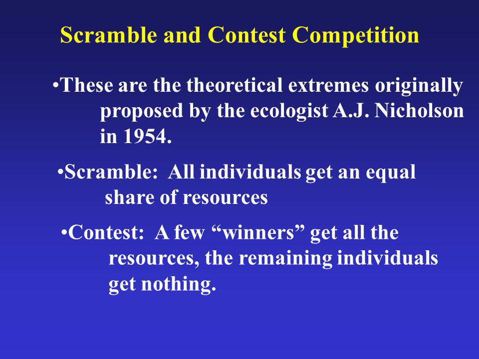 Scramble and Contest Competition