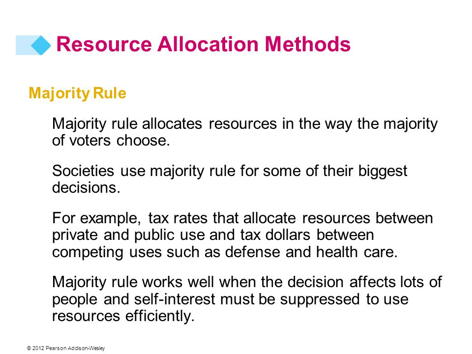 Resource Allocation Methods