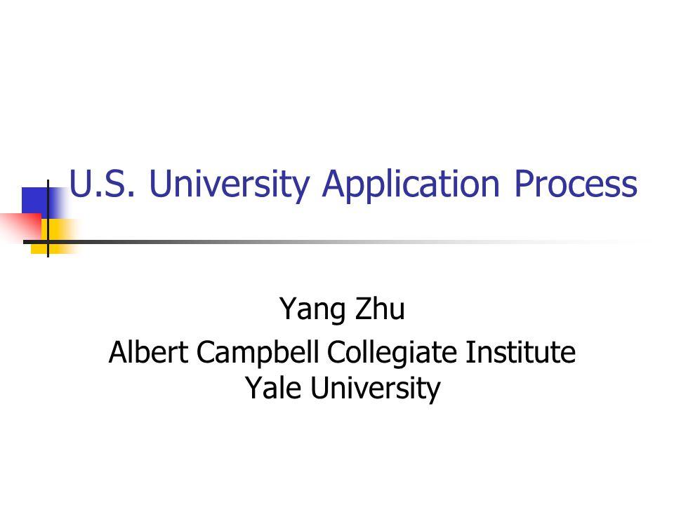 U.S. University Application Process
