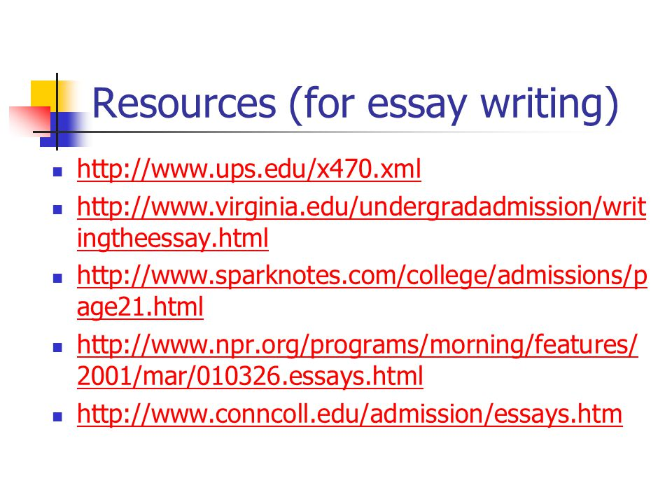 Resources (for essay writing)