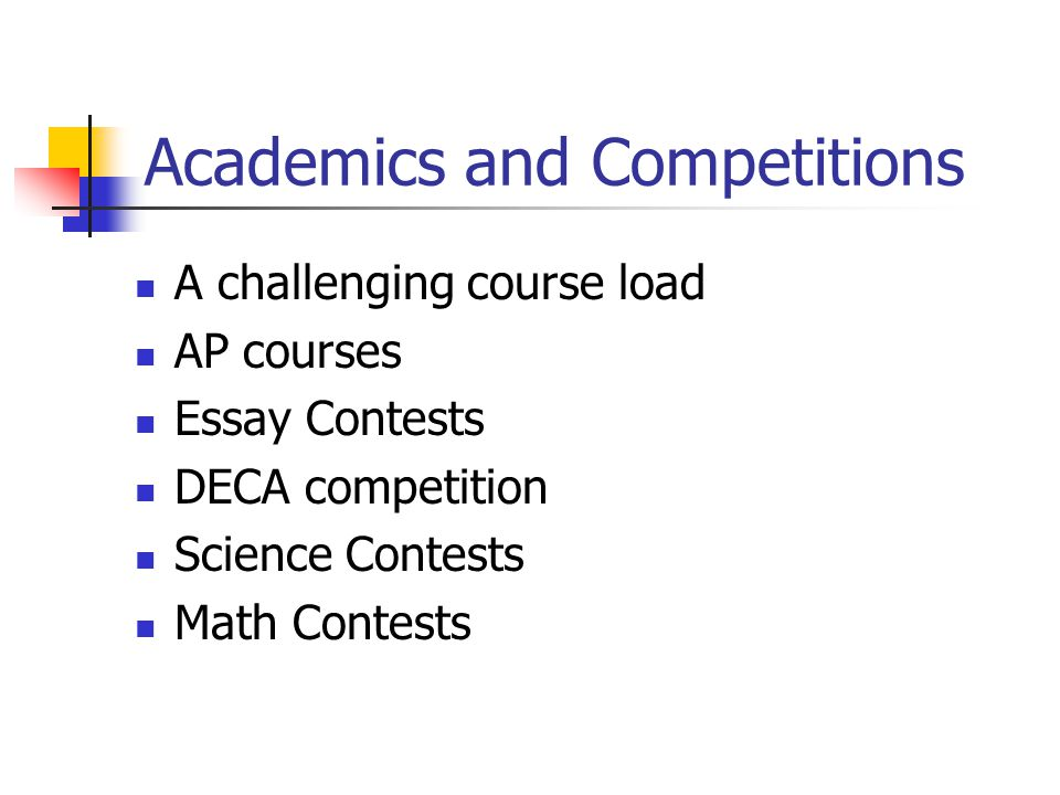 Academics and Competitions