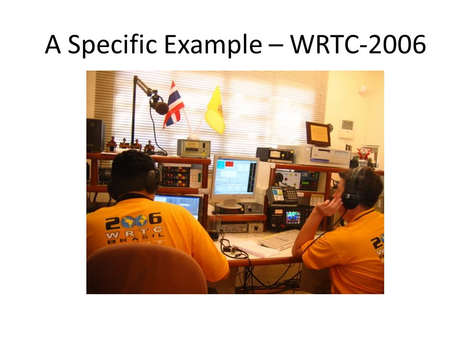 A Specific Example – WRTC-2006