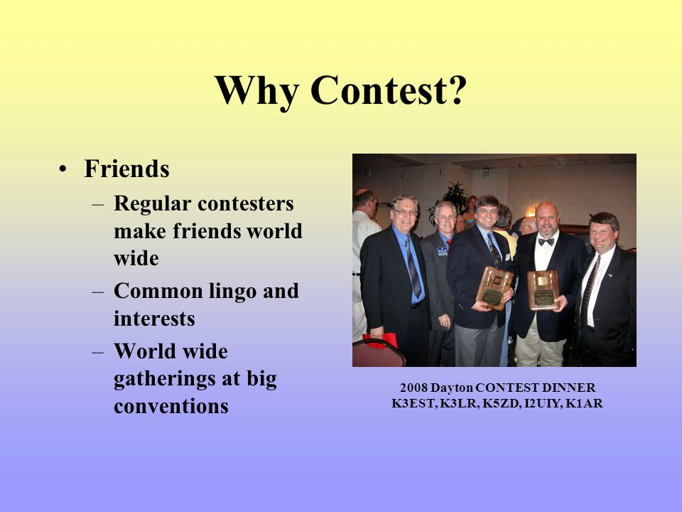 Why Contest Friends Regular contesters make friends world wide