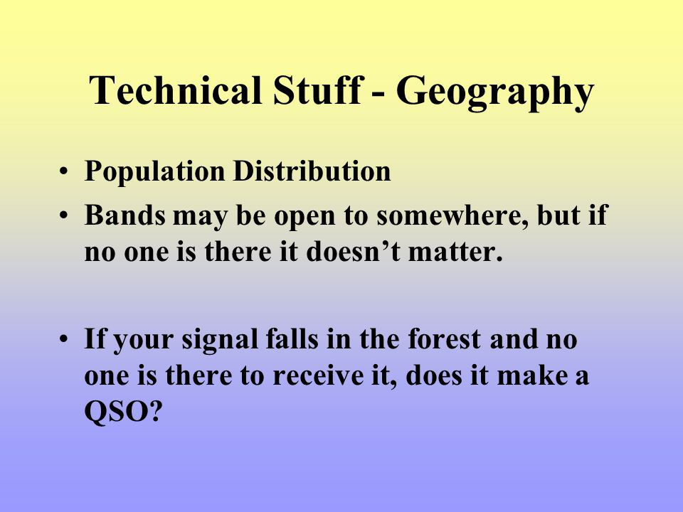 Technical Stuff - Geography