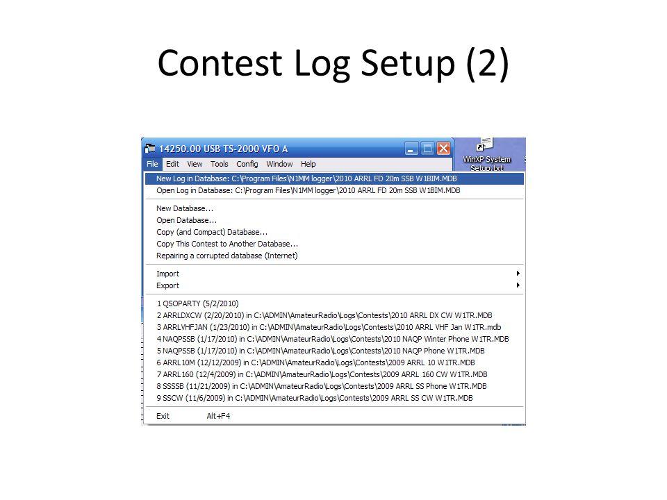 Contest Log Setup (2)