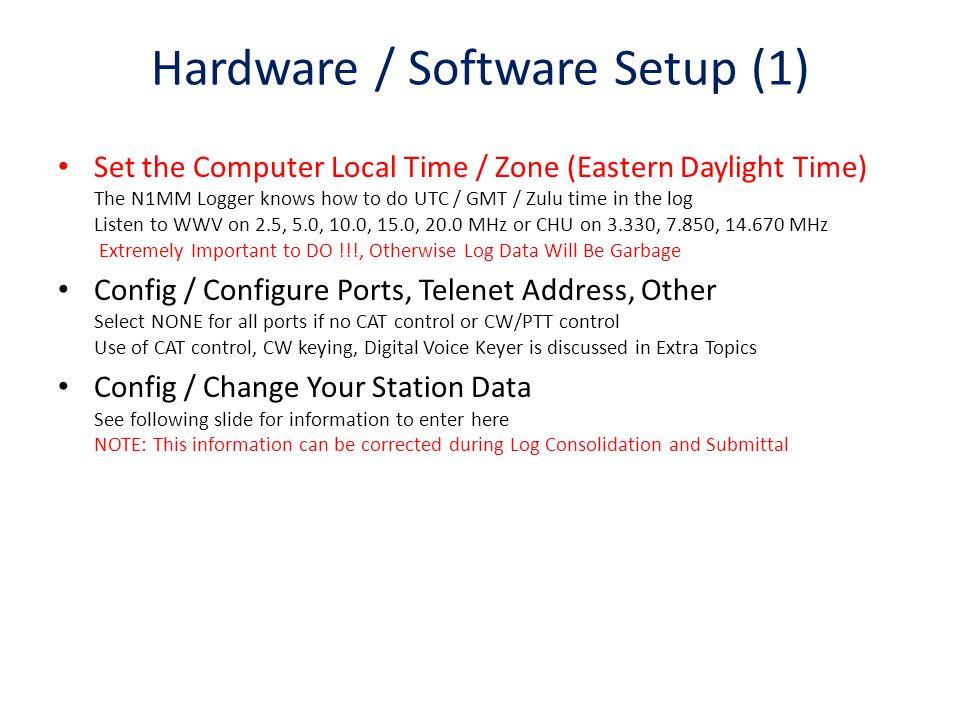 Hardware / Software Setup (1)