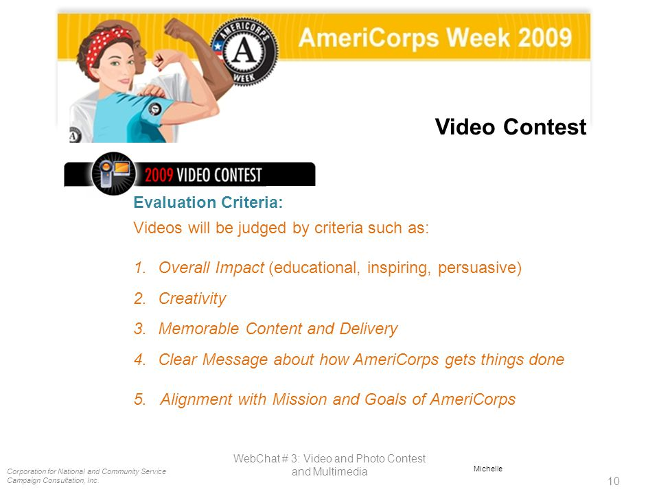 WebChat # 3: Video and Photo Contest and Multimedia