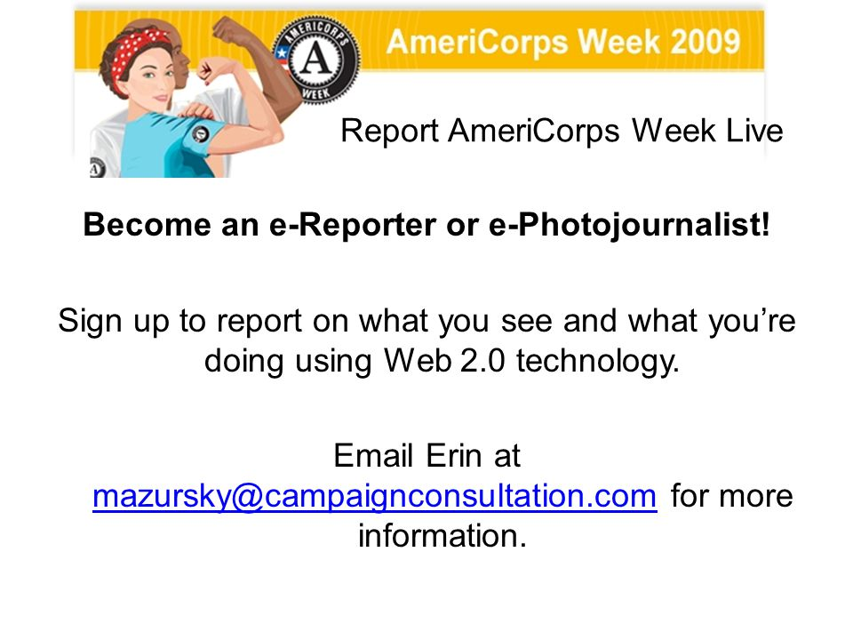 Report AmeriCorps Week Live
