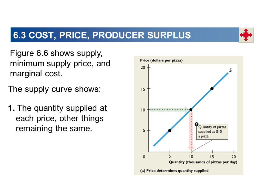 6.3 COST, PRICE, PRODUCER SURPLUS