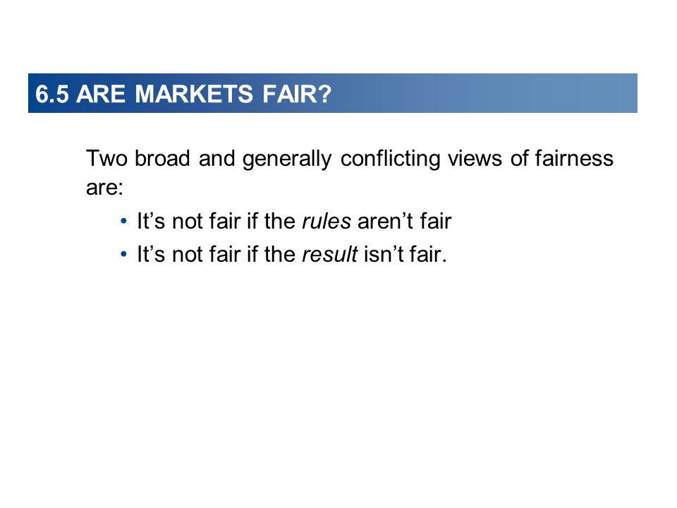 6.5 ARE MARKETS FAIR It's not fair if the rules aren't fair