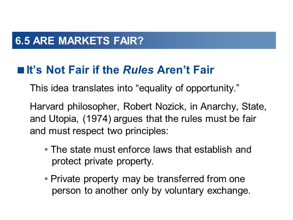 It's Not Fair if the Rules Aren't Fair