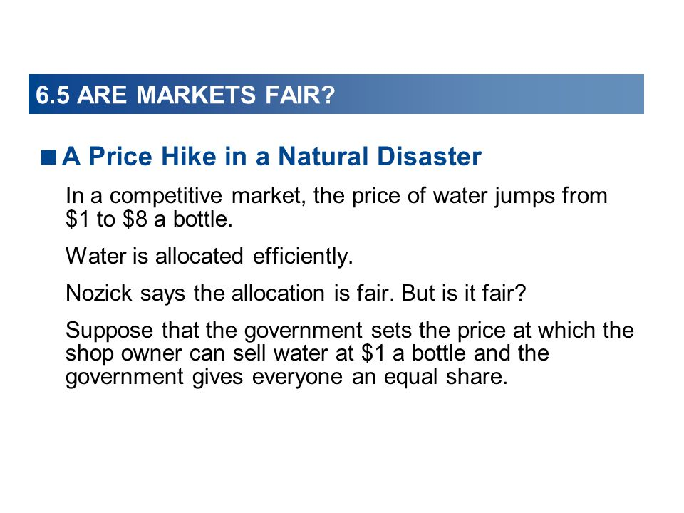 A Price Hike in a Natural Disaster