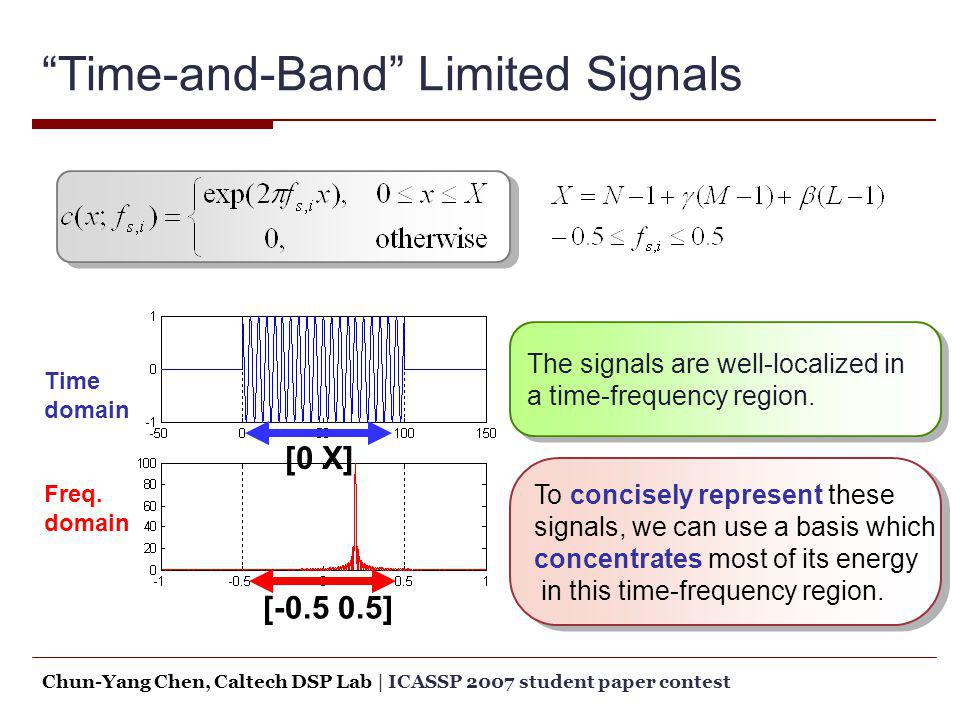 Time-and-Band Limited Signals