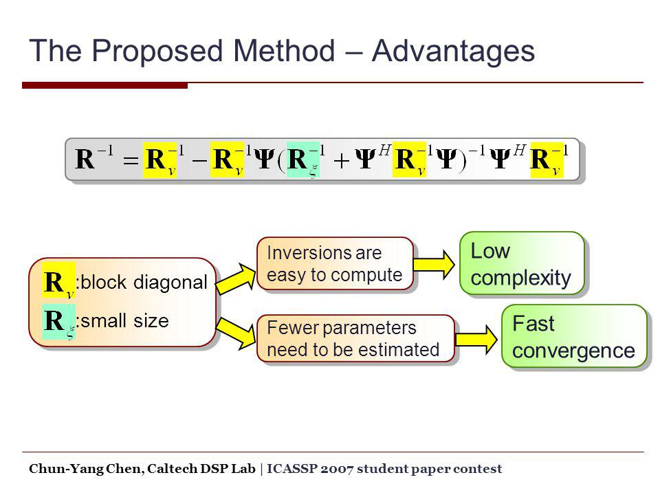 The Proposed Method – Advantages