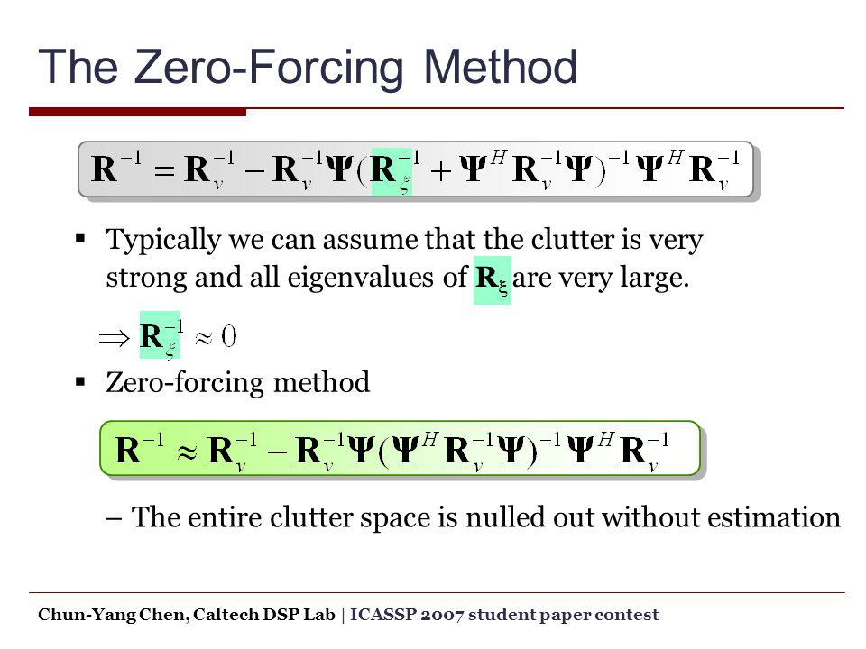 The Zero-Forcing Method