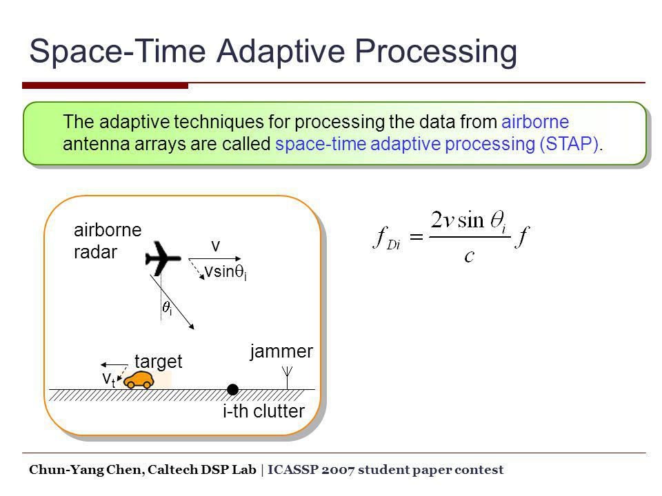 Space-Time Adaptive Processing