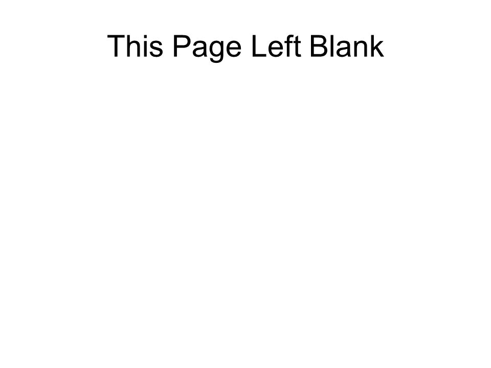 This Page Left Blank