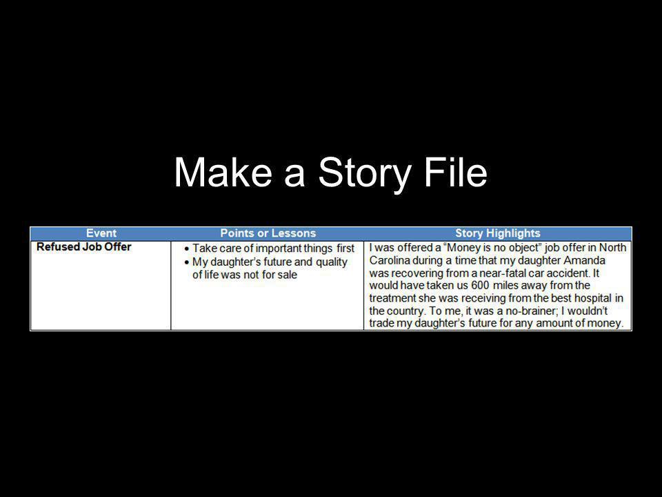 Make a Story File
