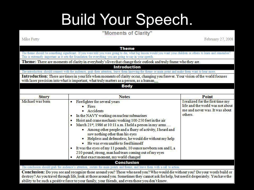 Build Your Speech.