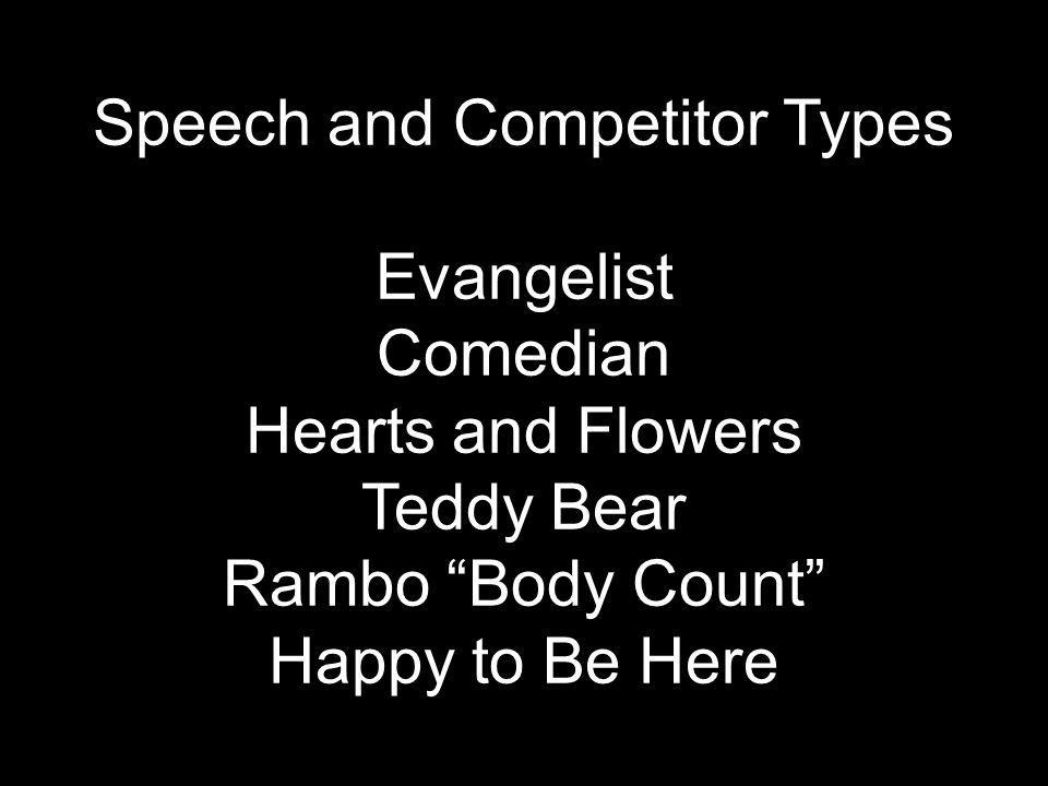 Speech and Competitor Types