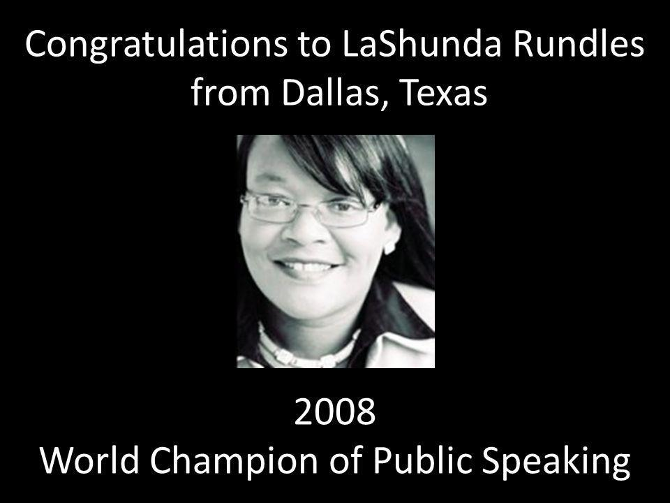Congratulations to LaShunda Rundles from Dallas, Texas