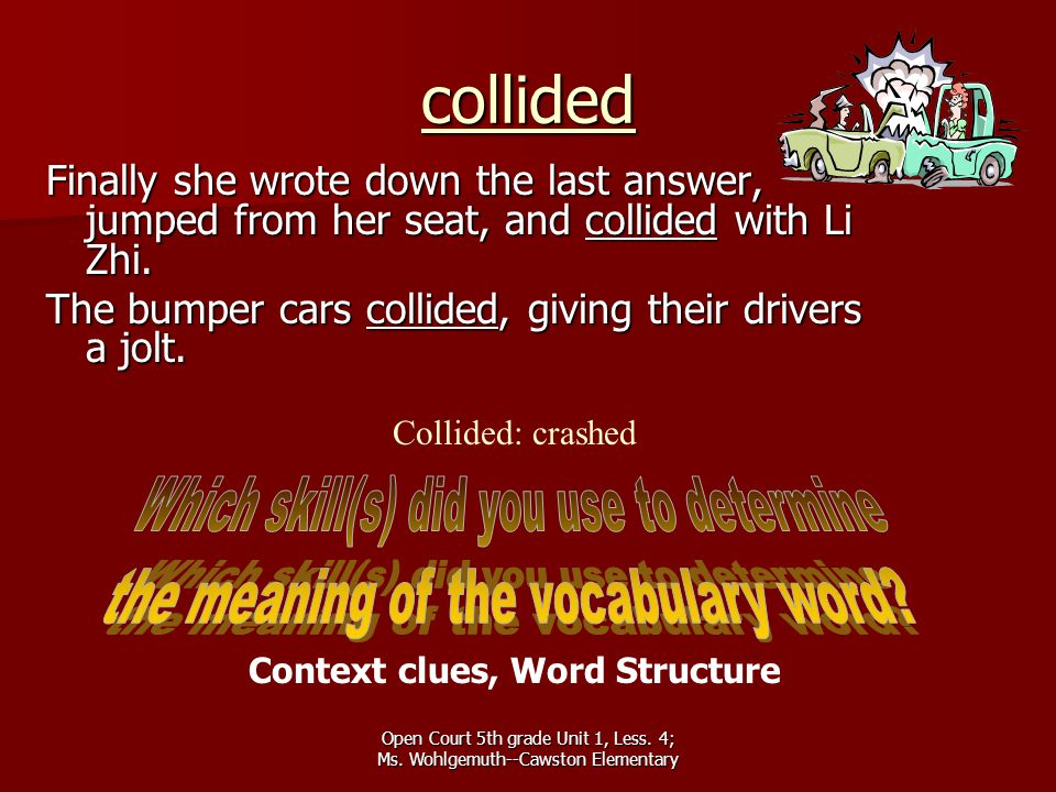 Context clues, Word Structure