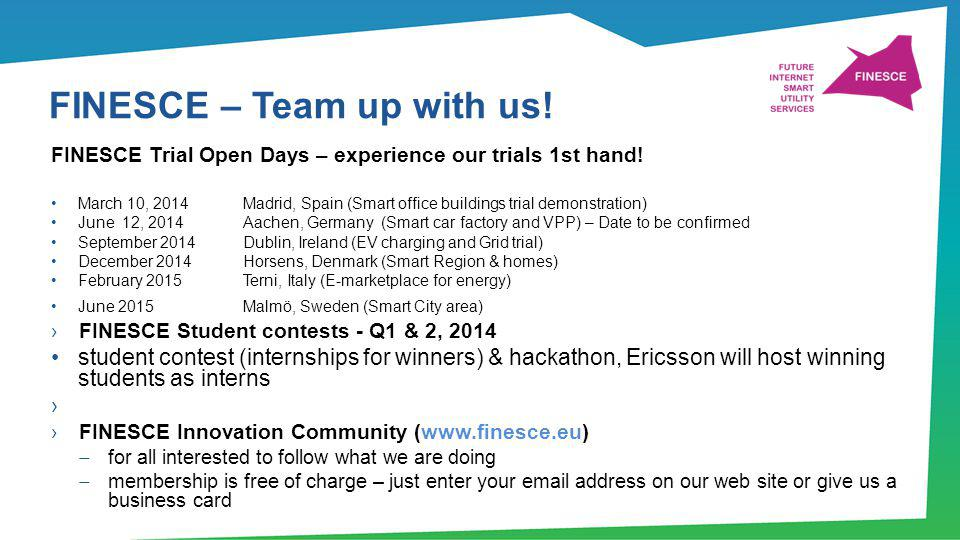 FINESCE – Team up with us!
