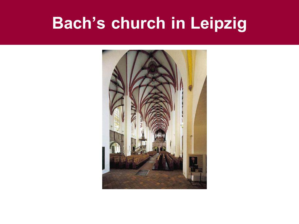 Bach's church in Leipzig