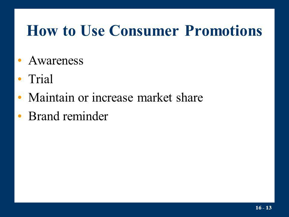 How to Use Consumer Promotions