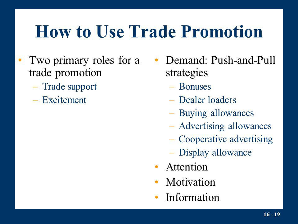 How to Use Trade Promotion