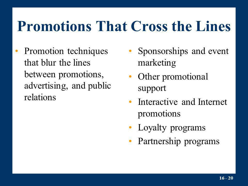 Promotions That Cross the Lines