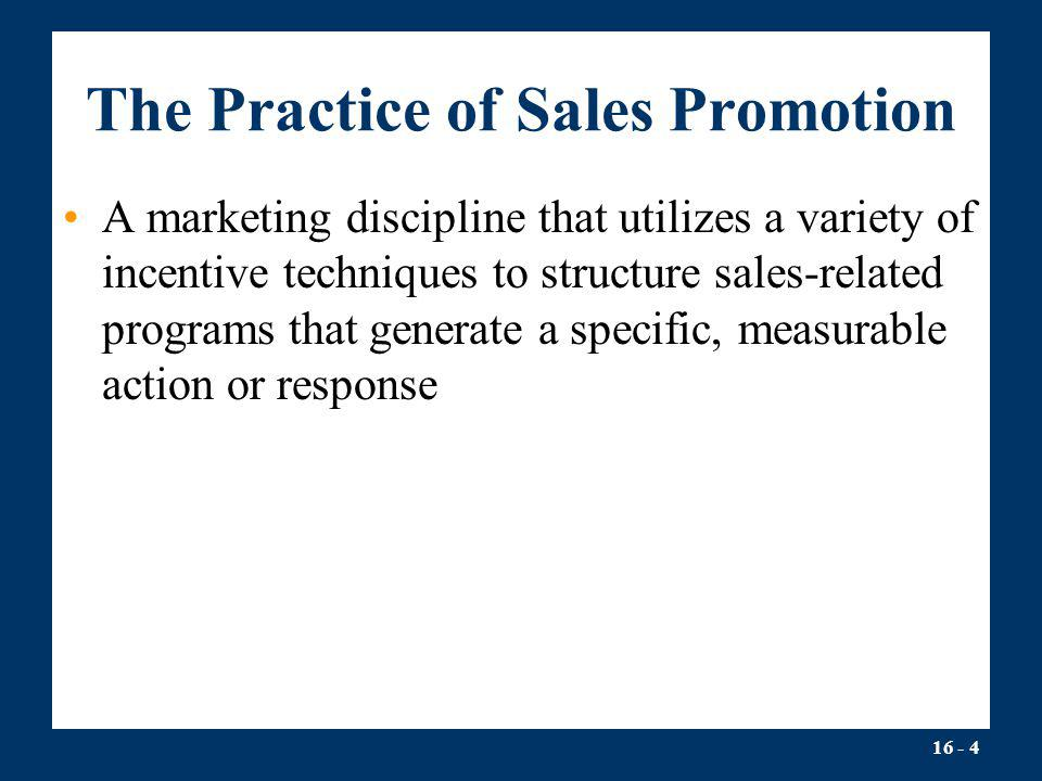 The Practice of Sales Promotion