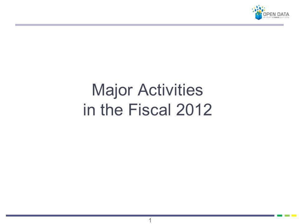 Major Activities in the Fiscal 2012