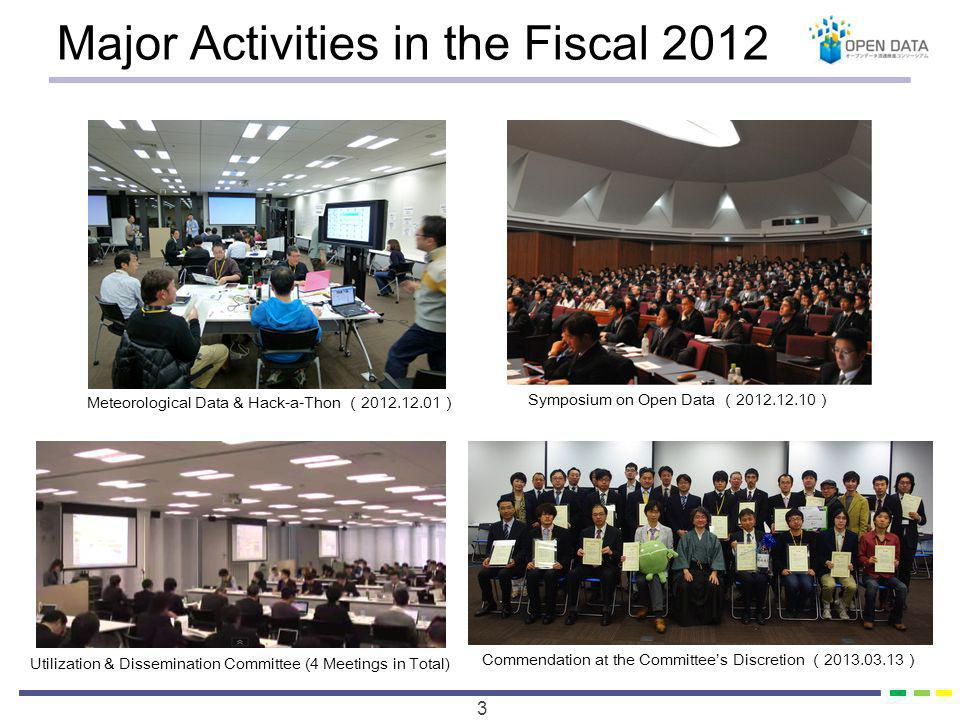 Major Activities in the Fiscal 2013