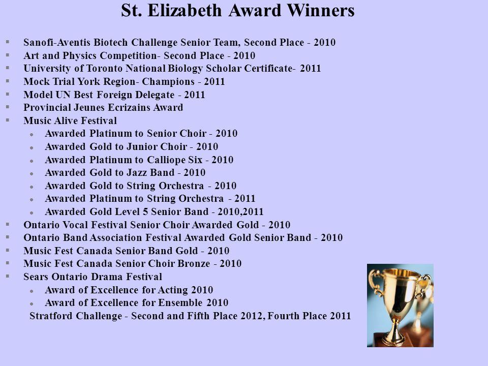 St. Elizabeth Award Winners