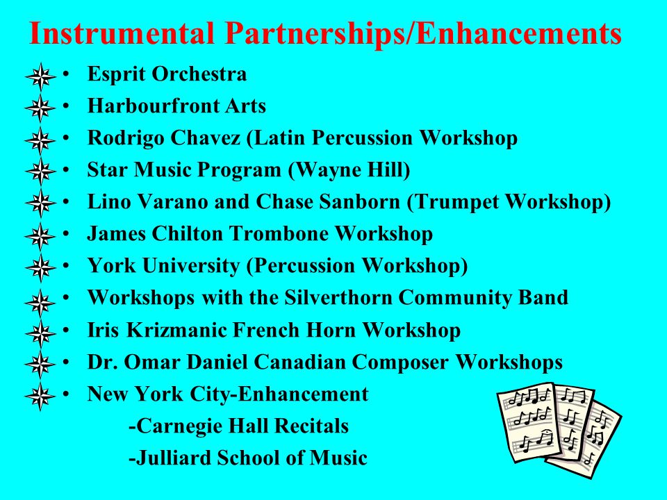 Instrumental Partnerships/Enhancements