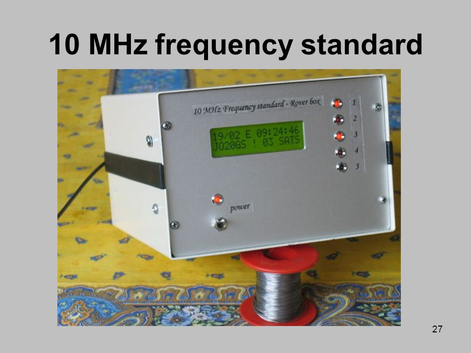 10 MHz frequency standard