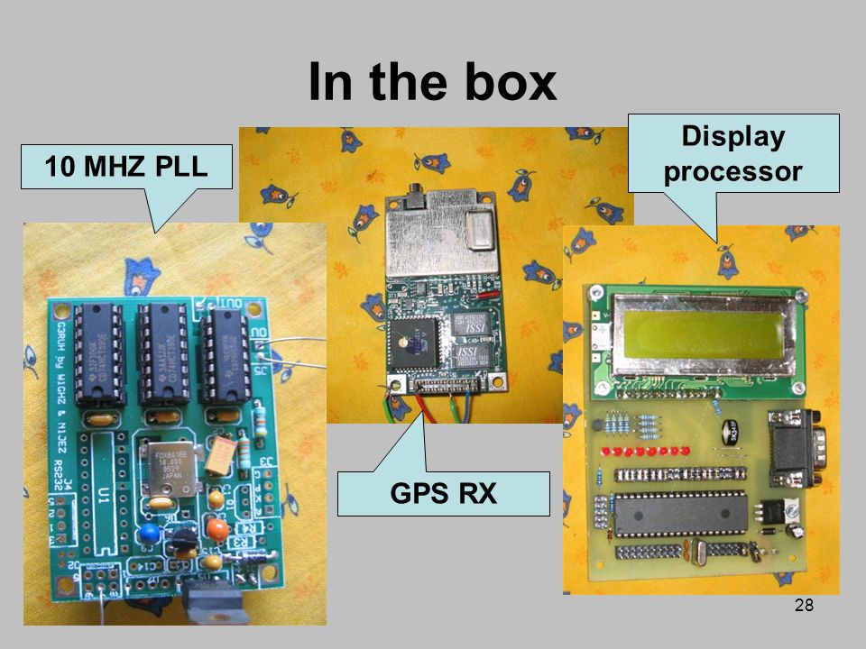 In the box Display processor 10 MHZ PLL GPS RX