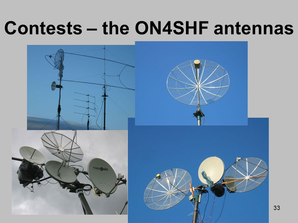 Contests – the ON4SHF antennas