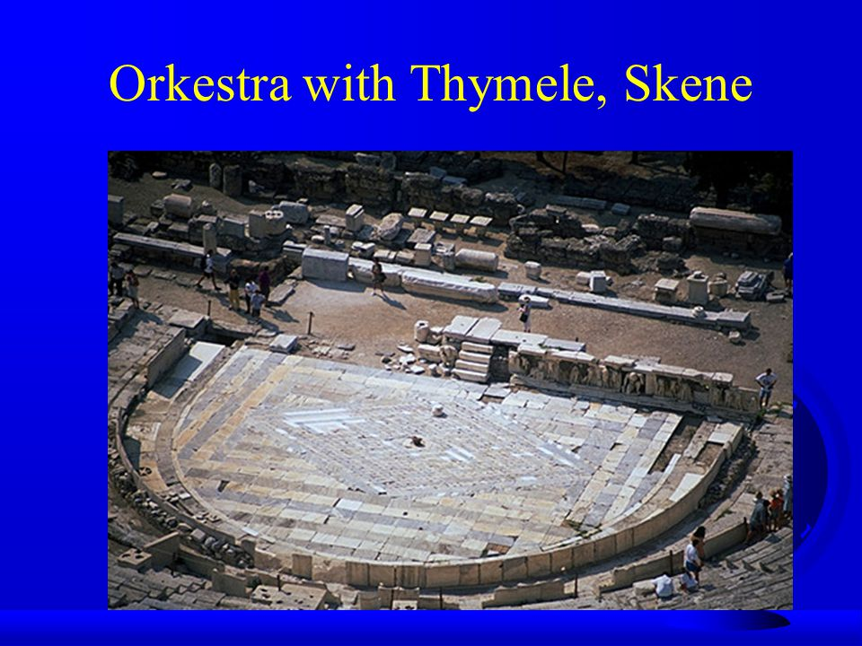 Orkestra with Thymele, Skene