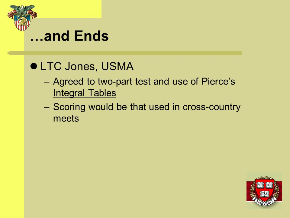…and Ends LTC Jones, USMA