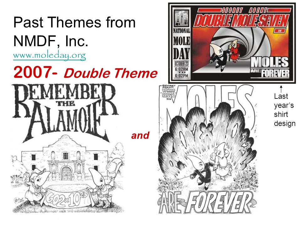 Past Themes from NMDF, Inc. www.moleday.org
