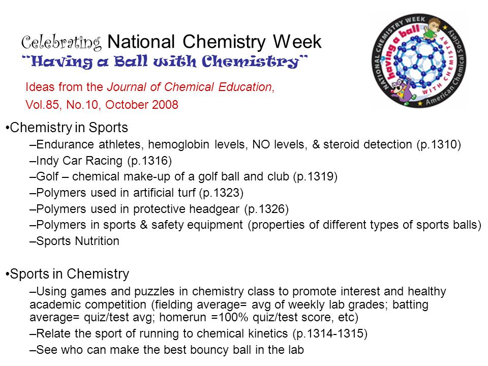 Celebrating National Chemistry Week Having a Ball with Chemistry
