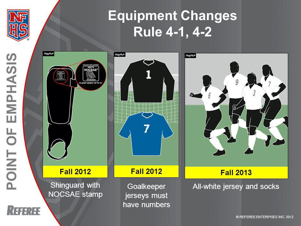 Equipment Changes Rule 4-1, 4-2