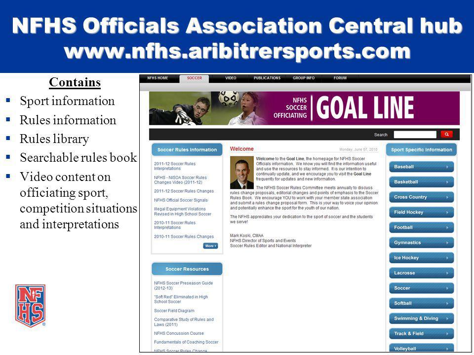 NFHS Officials Association Central hub www.nfhs.aribitrersports.com