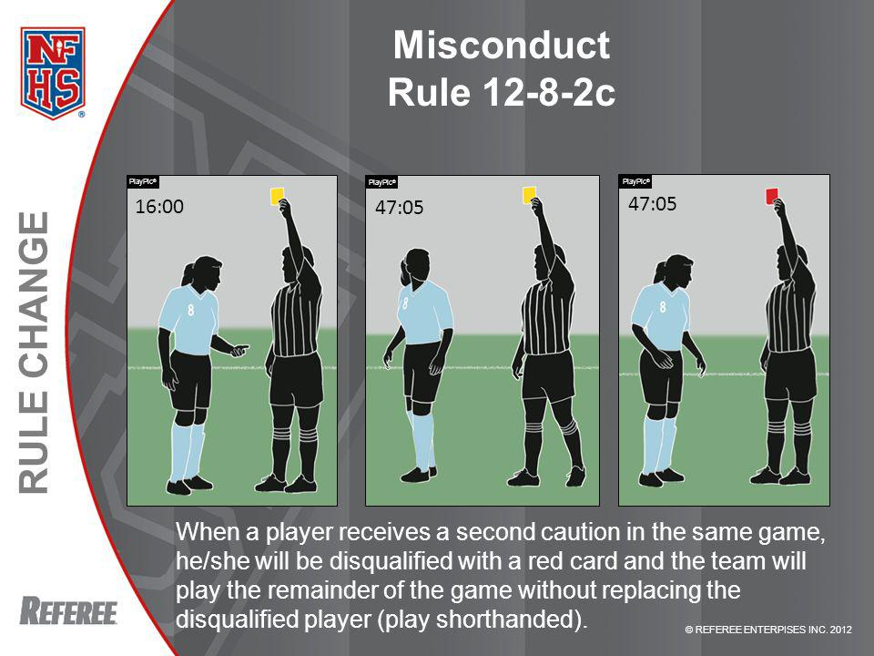 Misconduct Rule 12-8-2c PlayPic® PlayPic® PlayPic® 16:00. 47:05. 47:05. Rule 12-8-2c – MISCONDUCT.