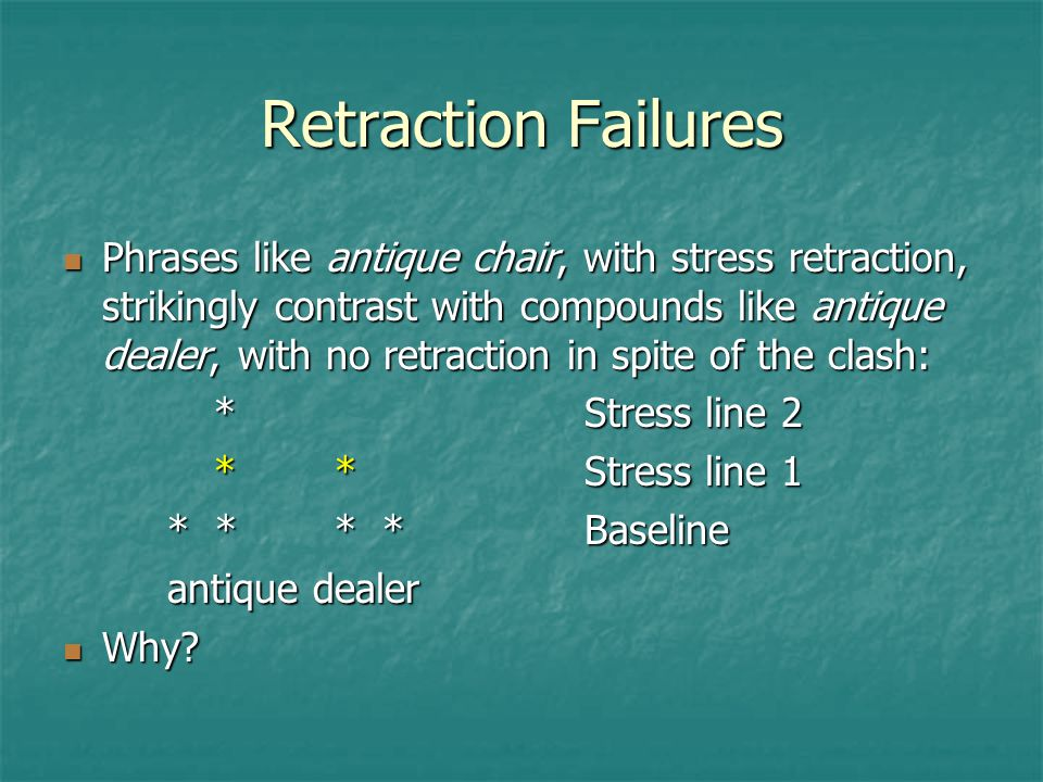 Retraction Failures
