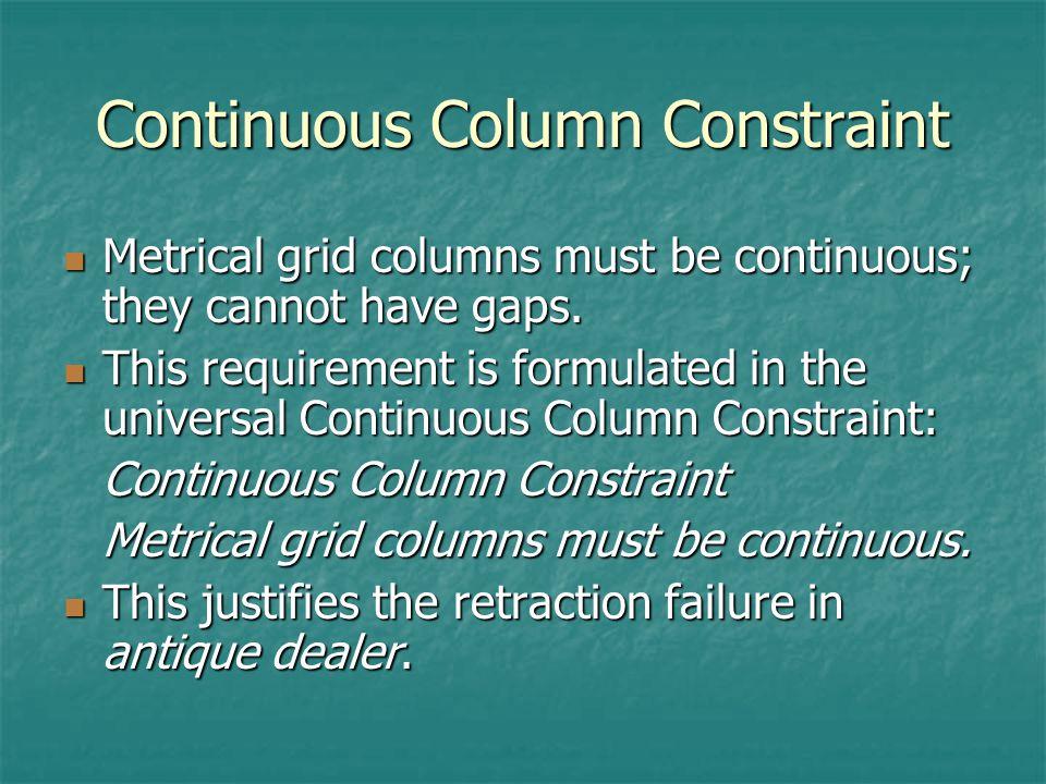 Continuous Column Constraint