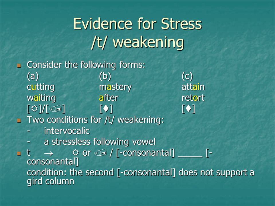Evidence for Stress /t/ weakening